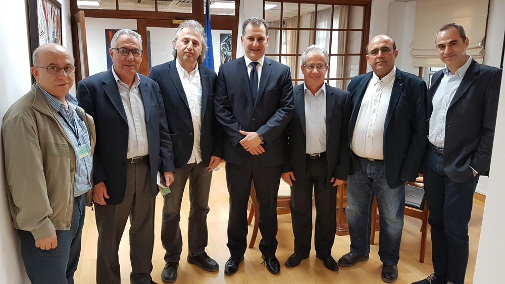 Συνάντηση ΕΤΕΚ με τον Υπουργό Ενέργειας, Εμπορίου, Βιομηχανίας και Τουρισμού